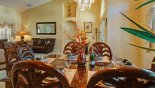 Dining in style - seating for 6 - www.iwantavilla.com is your first choice of Villa rentals in Orlando direct with owner