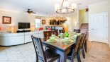 Dining room seating for 8 people with this Orlando Villa for rent direct from owner