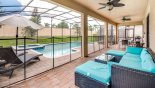 Maui 16 Villa rental near Disney with Rattan seating for 6 under lanai