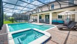 Villa rentals near Disney direct with owner, check out the Shade can be easily provided under large pool-side parasol