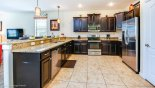 Villa rentals in Orlando, check out the Luxury kitchen including double refrigerator,  coffee maker & toaster