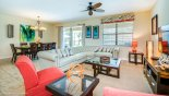 Spacious rental Champions Gate Villa in Orlando complete with stunning View from family room towards dining room