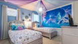 Frozen themed Bedroom 4 complete with feature lighting & decorative ceiling - www.iwantavilla.com is your first choice of Villa rentals in Orlando direct with owner