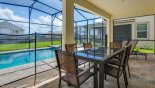 Villa rentals in Orlando, check out the Spacious pool deck complete with toddler safety fence for your peace of mind