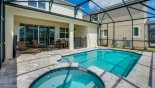 Spacious rental Solara Resort Villa in Orlando complete with stunning View from pool deck towards villa