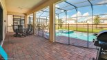 Villa rentals in Orlando, check out the Lanai seating area complete with gas BBQ