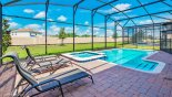 Spacious pool deck with private pool from Champions Gate rental Villa direct from owner