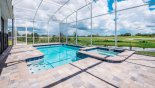 Private pool with built-in raised spa - perfect for relaxing after a long day at Disney from Maui 8 Villa for rent in Orlando