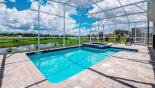 Villa rentals in Orlando, check out the Stunning south-east facing pool deck with open views towards Champions Gate golf course