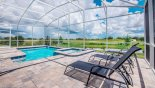 Villa rentals near Disney direct with owner, check out the 3 sun loungers on the pool deck for your sunbathing comfort