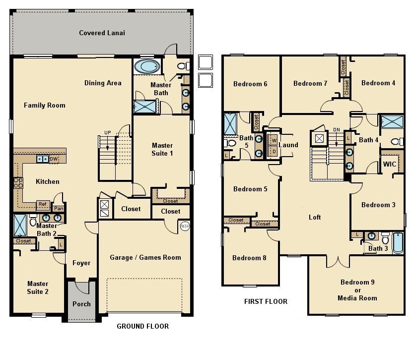 Maui 8 Floorplan