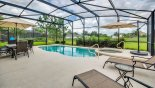Spacious rental Solterra Resort Villa in Orlando complete with stunning Pool deck with 2 sun loungers