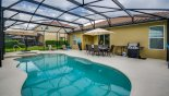 Orlando Villa for rent direct from owner, check out the View of pool & spa towards covered lanai - note gas BBQ