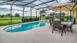 Pool & spa with open south easterly views with this Orlando Villa for rent direct from owner