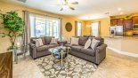Family room with views and direct access via sliding patio doors onto pool deck - www.iwantavilla.com is the best in Orlando vacation Villa rentals
