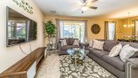 Spacious rental Solterra Resort Villa in Orlando complete with stunning Family room with large wall mounted LCD cable TV