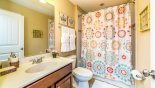 Family bathroom #3 with bath & shower over with this Orlando Villa for rent direct from owner