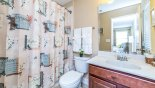 Villa rentals in Orlando, check out the Ensuite bathroom #4 with bath & shower over