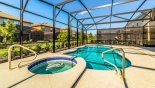 Large pool and spa for your enjoyment - www.iwantavilla.com is the best in Orlando vacation Villa rentals