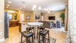 Villa rentals near Disney direct with owner, check out the View of breakfast nook towards family room