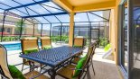 Covered lanai with patio table & 6 chairs from Solterra Resort rental Villa direct from owner