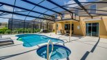 Large pool and spa for your enjoyment with this Orlando Villa for rent direct from owner