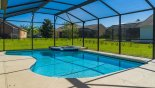 Gulf Breeze 1 Villa rental near Disney with View of pool from covered lanai