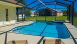 Sunny pool deck with large pool & spa from Gulf Breeze 1 Villa for rent in Orlando