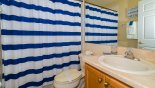 Villa rentals near Disney direct with owner, check out the Family bathroom #3 with bath & shower over