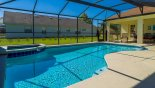 View of pool & spa towards covered lanai from Gulf Breeze 1 Villa for rent in Orlando