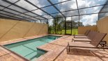 Pool deck with 4 sun loungers - www.iwantavilla.com is the best in Orlando vacation Townhouse rentals