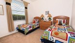 Villa rentals in Orlando, check out the Bedroom 5 with twin beds