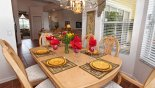 Villa rentals near Disney direct with owner, check out the Dining room viewed towards family room