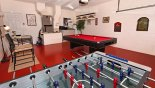 Spacious rental Highlands Reserve Villa in Orlando complete with stunning Games room with pool table and table football