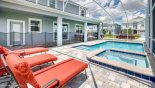 Orlando Villa for rent direct from owner, check out the 3 comfortable sun loungers overlooking the private pool