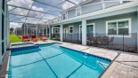 Pool deck comes complete with toddler safety screen for your peace of mind from Maui 10 Villa for rent in Orlando