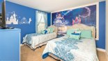 Cinderella themed bedroom 4 with twin size bed & full size bed - www.iwantavilla.com is the best in Orlando vacation Villa rentals