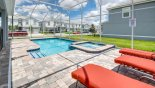 Spacious pool deck with built in raised spa - www.iwantavilla.com is your first choice of Villa rentals in Orlando direct with owner