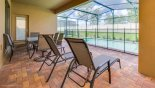 Villa rentals near Disney direct with owner, check out the View of pool from covered lanai