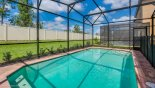 Large pool with pleasant outlook with this Orlando Villa for rent direct from owner