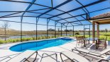 St Croix 1 Villa rental near Disney with South west facing pool & spa with pond views