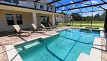 Spacious rental The Dales at West Haven Villa in Orlando complete with stunning Pool deck gets the sun all day