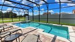 South facing pool & spa with privacy screening to rear from The Dales at West Haven rental Villa direct from owner