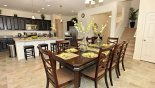 Dining area with dining table & 8 chairs from Tahiti 3 Villa for rent in Orlando