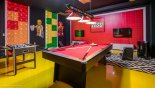 Villa rentals in Orlando, check out the Spectacular LEGO themed games room