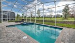 South west facing pool & spa with open views - no direct rear neighbours - www.iwantavilla.com is the best in Orlando vacation Villa rentals