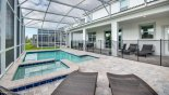 Orlando Villa for rent direct from owner, check out the Pool & spa with 4 sun loungers & pool safety fence