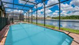 Villa rentals near Disney direct with owner, check out the Large east facing pool & spa with spectacular lake views