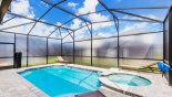 Spacious rental Solara Resort Villa in Orlando complete with stunning Pool & spa with privacy screening