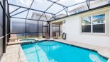 Orlando Villa for rent direct from owner, check out the View of pool deck towards covered lanai
